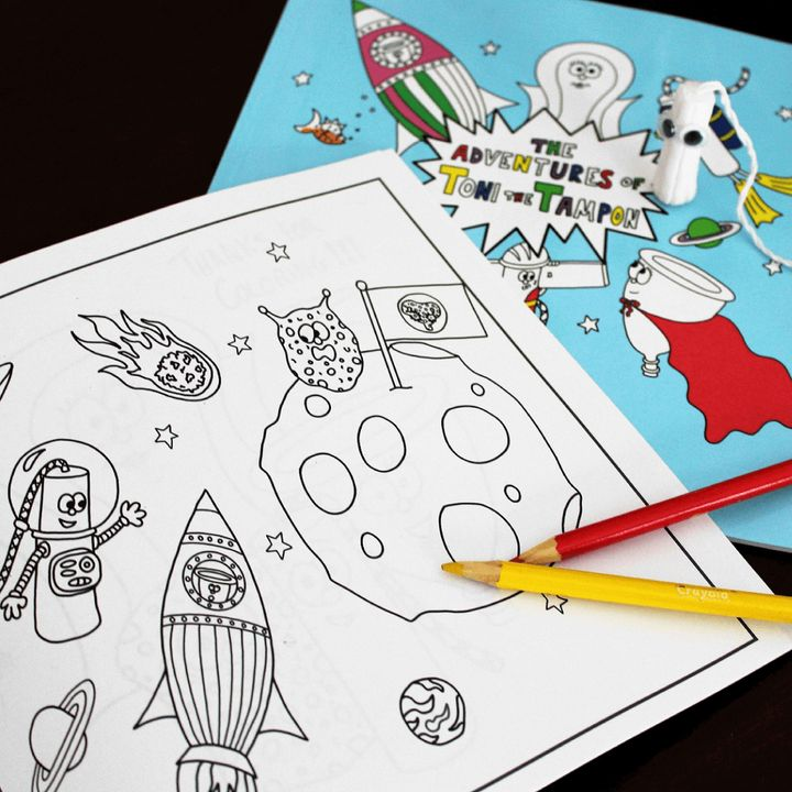 New Coloring Book Introduces Kids Of All Genders To Menstruation