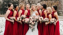 21 Festive Wedding Photos That Are Pure Holiday