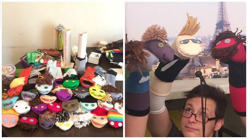 The whole puppet cast. Jordan Lincoln.