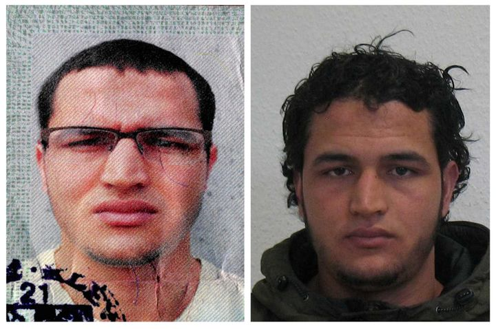 Handout pictures released on December 21, 2016 and acquired from the web site of the German Bundeskriminalamt (BKA) Federal C
