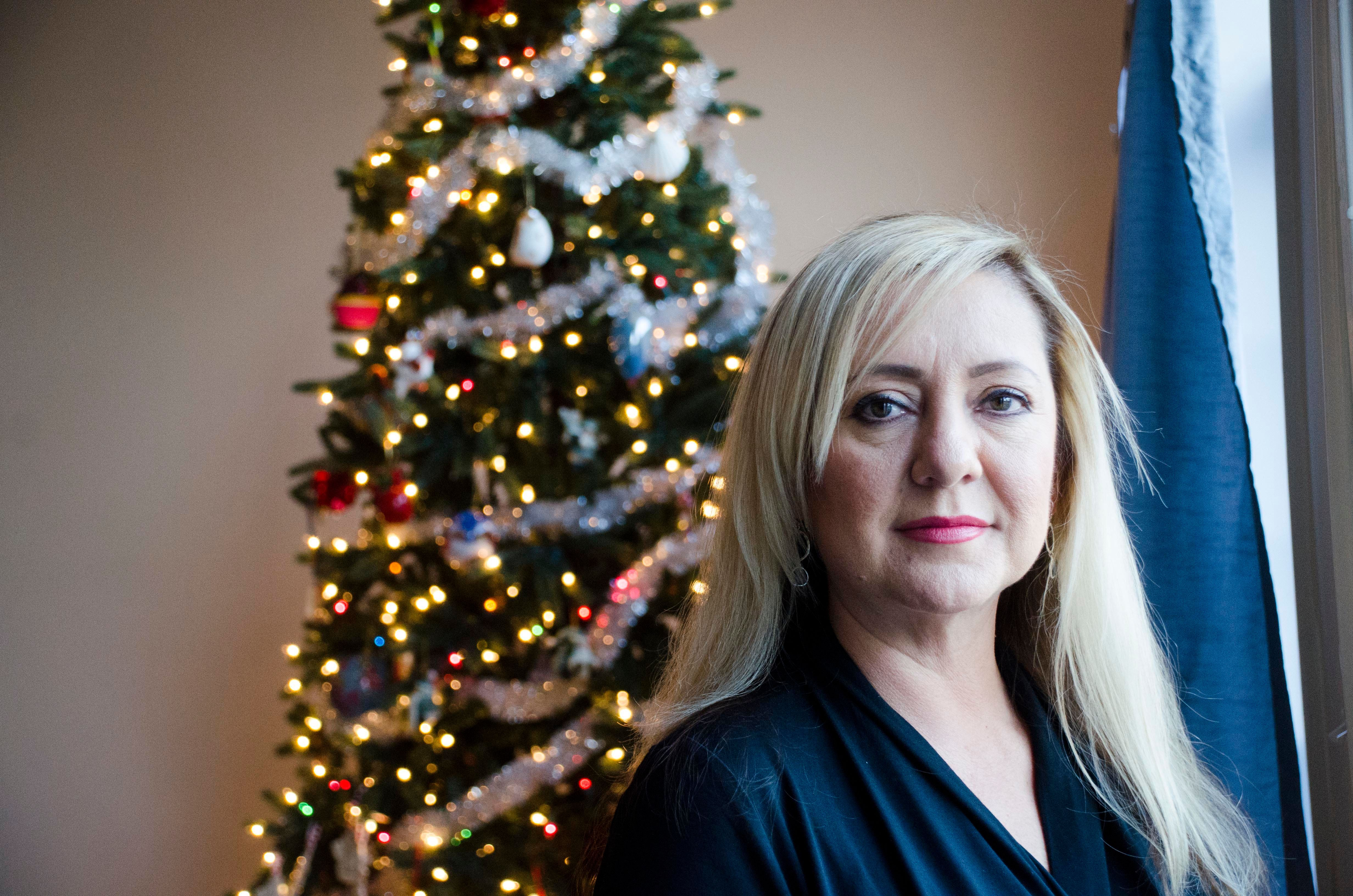HAYMARKET, VA - DEC:  Lorena Bobbitt, who infamously cut off her husband's penis in 1993, pictured in her Virginia home. She now runs a non-profit organization that helps domestic violence victims in Haymarket, Virginia, on Dec. 8, 2016. (Photo by Melissa Jeltsen/Huffington Post) *** Local Caption ***