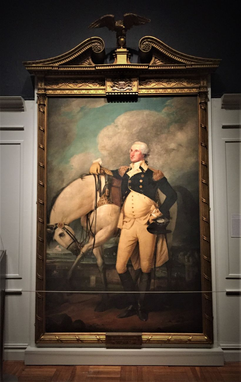 Portrait by John Trumbull of George Washington on the Hudson River in the New York Historical Society