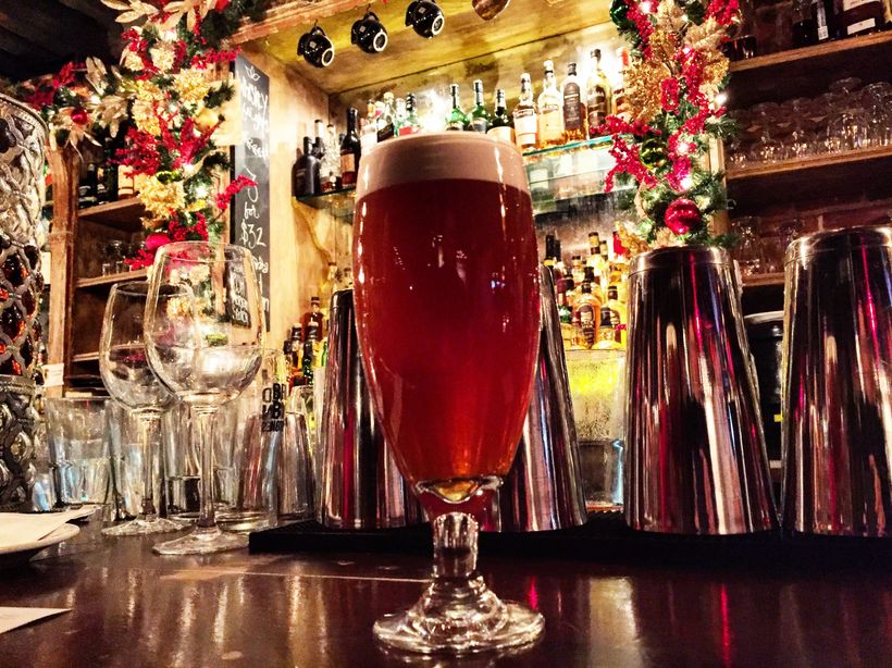 George Washington would have liked the Porterhouse Brewing Company in Fraunces Tavern.  He drank beer, hard cider, wine and w
