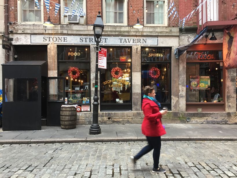 Pretty Stone Street is just a musket shot from Fraunces Tavern.