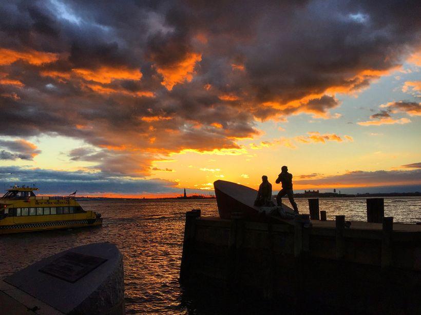 The Merchant Marine Memorial in Battery Park