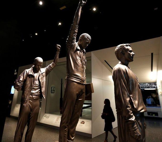 1968 Olympics medalists John Carlos and Tommie Smith honored in the National Museum of African American History and Culture