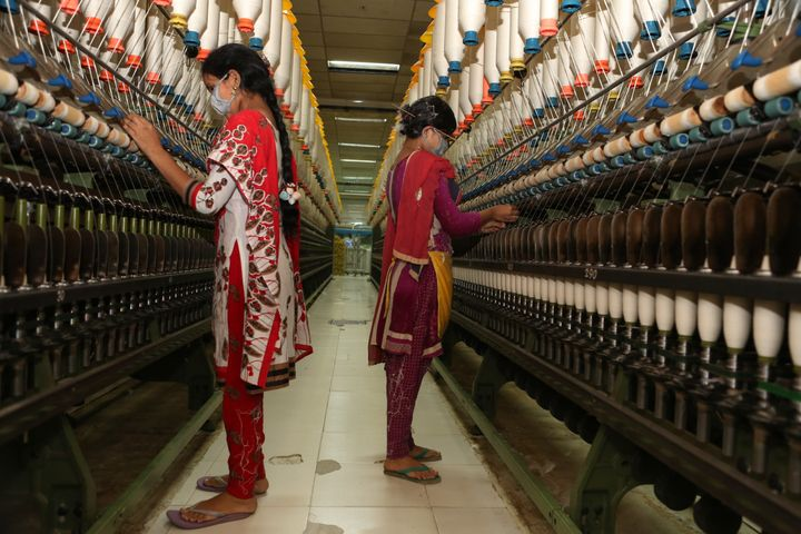 Workers in a garment factory on Dec. 13 in Gazipur, Bangladesh.