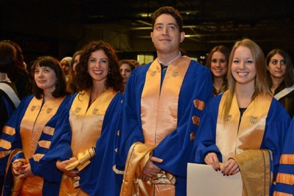 University of Windsor graduates wait to receive their diploma at Convocation.