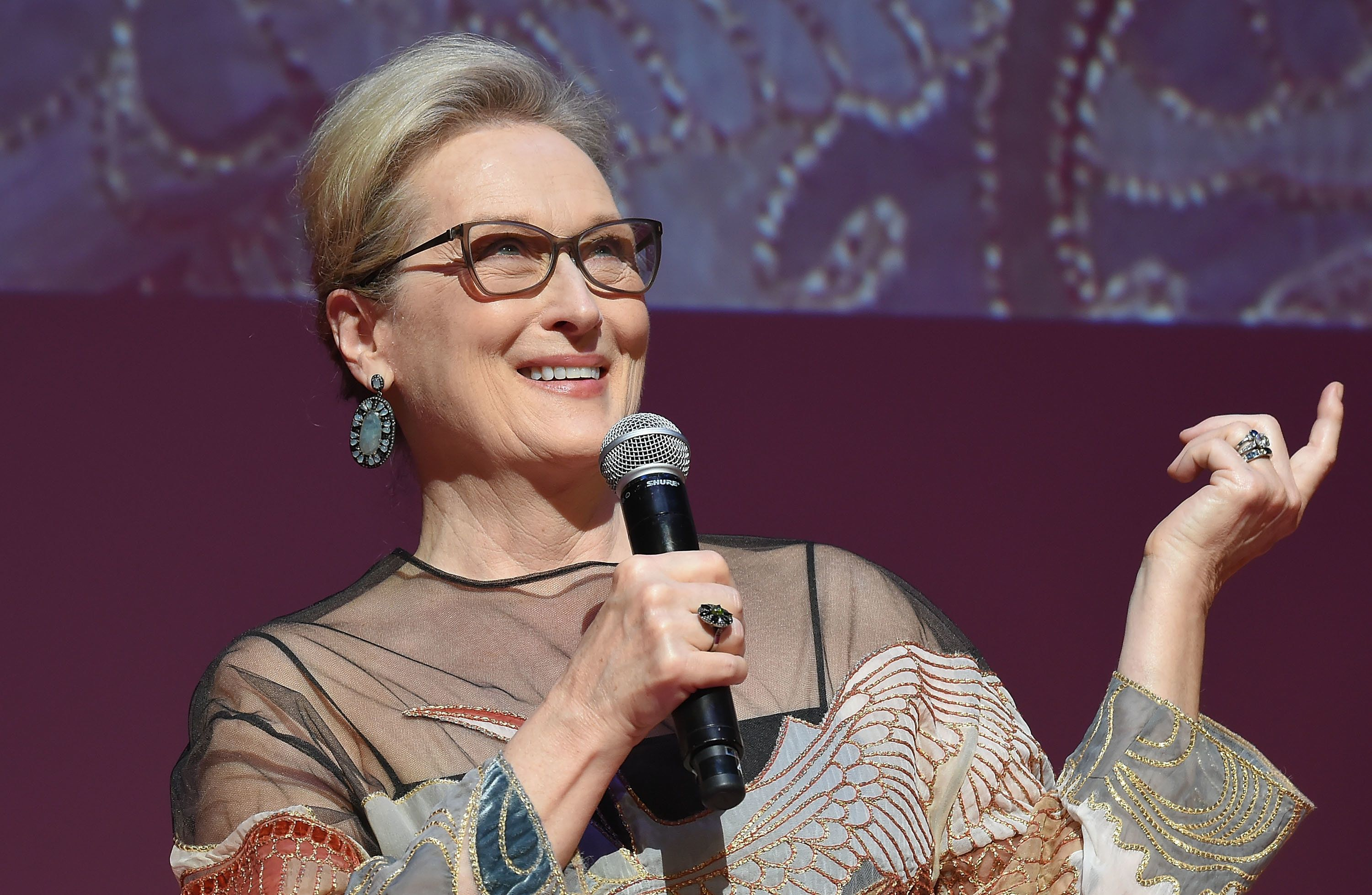 """""""I've grown up with gay people and been in love with gay people,"""" Meryl Streep has said."""