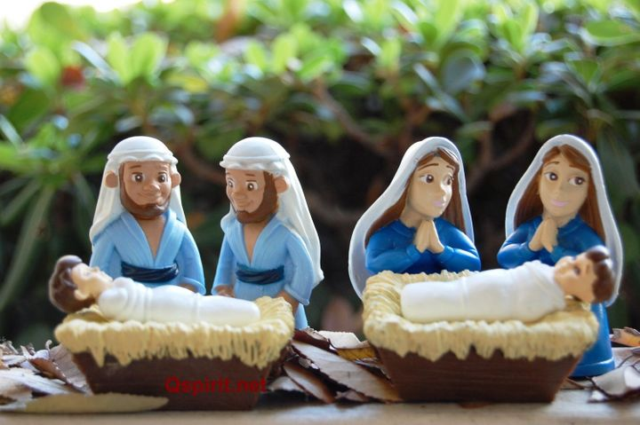 Cherry bought two nativity sets, then switched the couples around to create a queer nativity.
