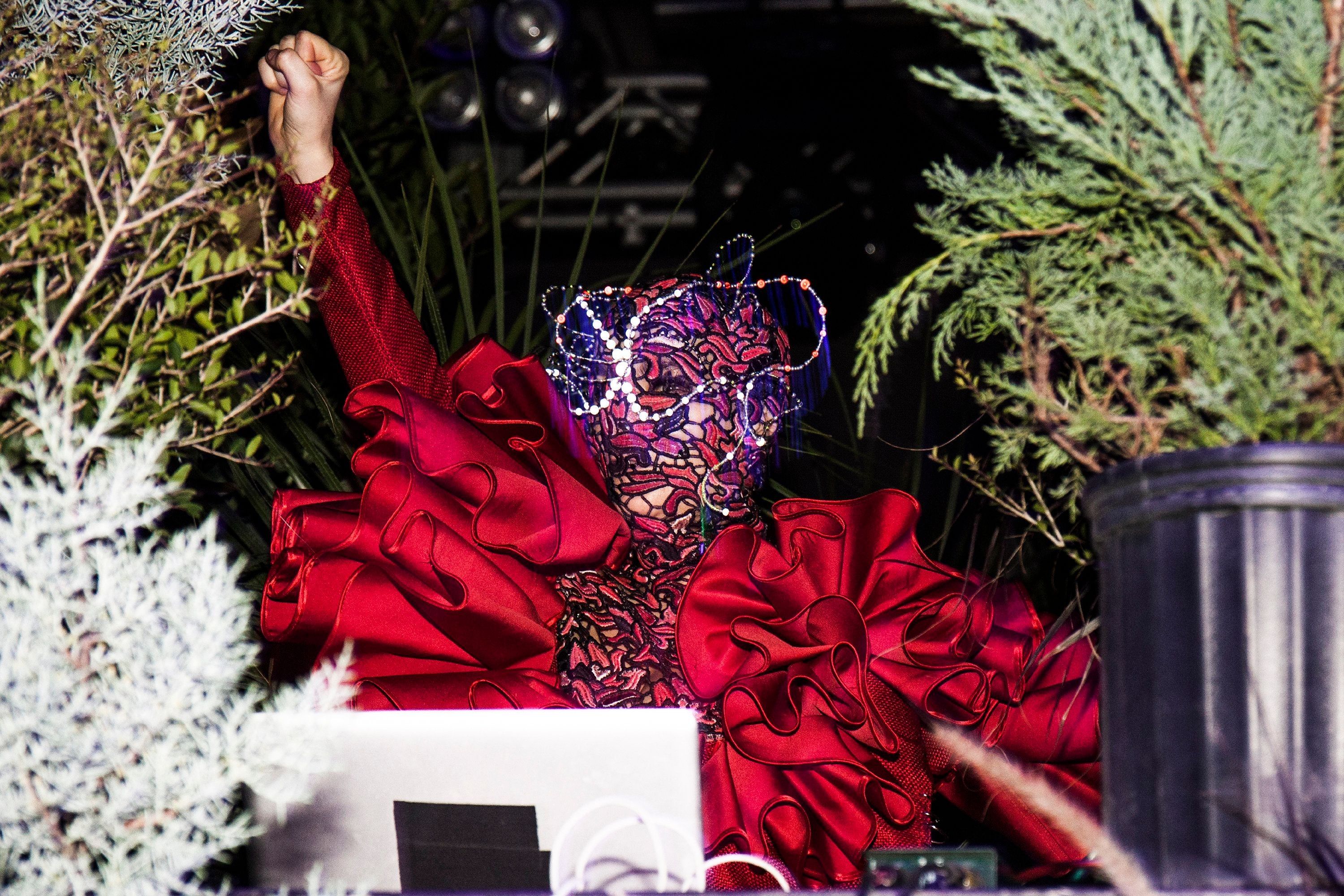 HOUSTON, TX - DECEMBER 18:  Bjork perfoms a DJ set during Day For Night 2016 at Barbara Jordan Post Office on December 18, 2016 in Houston, Texas.  (Photo by Santiago Felipe/Getty Images)