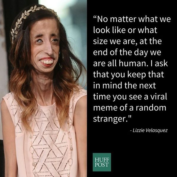 "Lizzie Velasquez has dealt with cyberbullying since she was a teenager, and she's <a href=""http://www.huffingtonpost.com/entr"