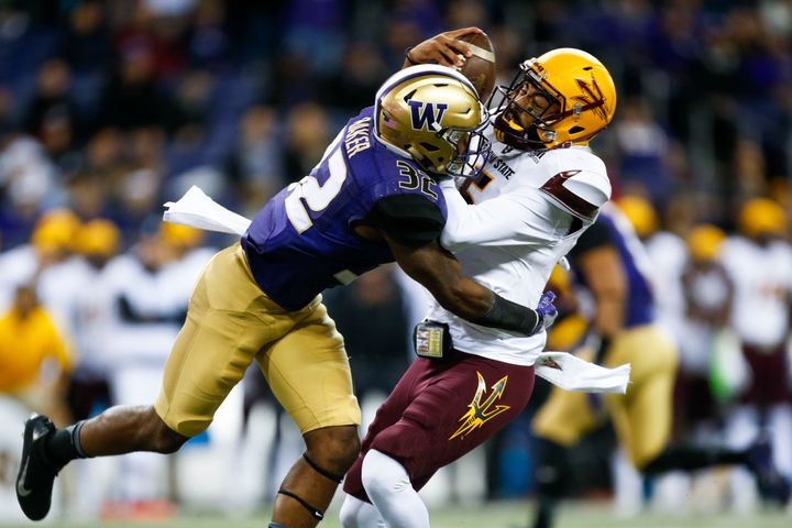 Safety Budda Baker is a big reason why the Huskies lead the nation in turnover margin.
