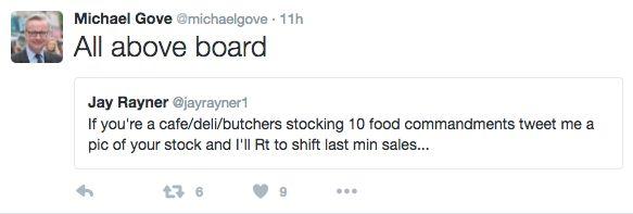 Michael Gove Tries To Troll Jay Rayner In Bizarre Twitter