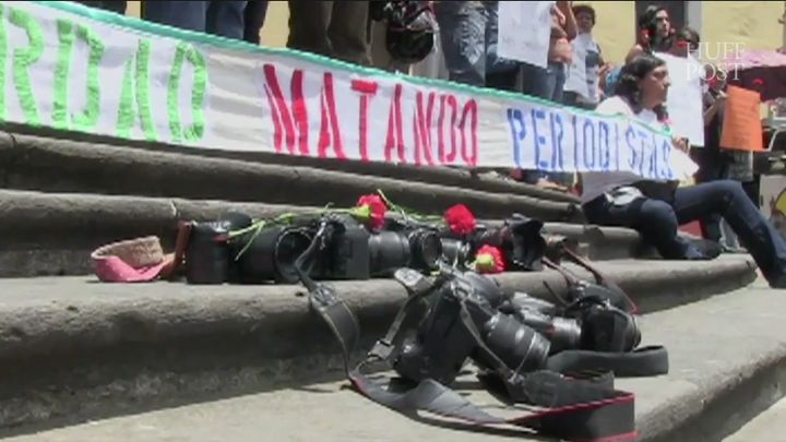 Demonstrationsprotesting the murder of journalists in Mexico