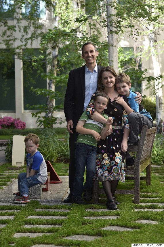 The youngest son of Australian politician Andrew Leigh did not look pleased to be in this photo last