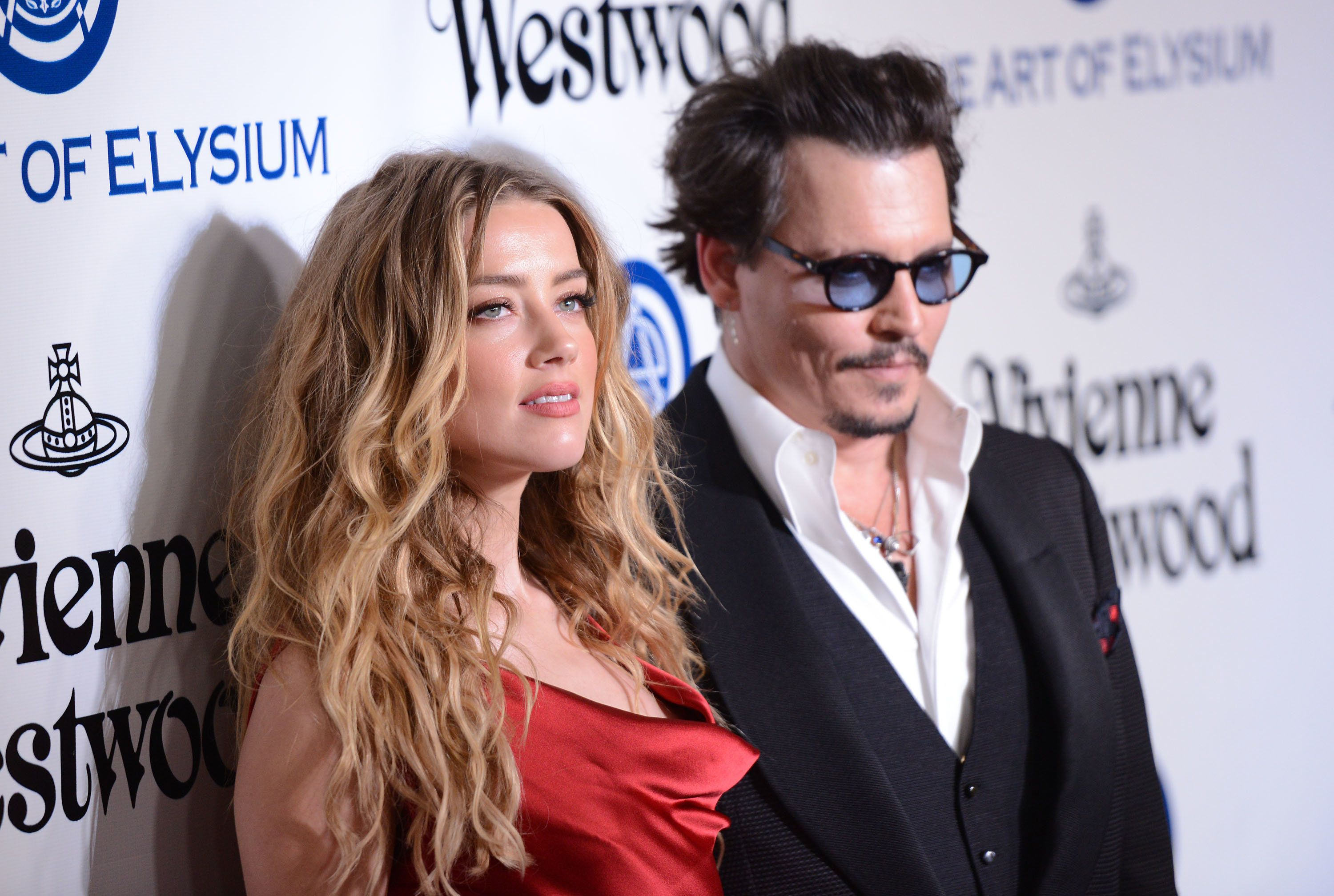 Amber Heard and Johnny Depp at the Art of Elysium 2016 Heaven Gala in California in January,