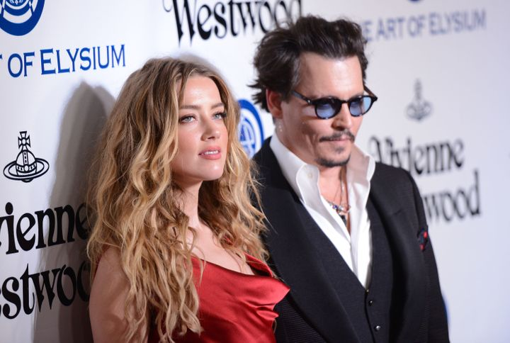 Amber Heard and Johnny Depp at the Art of Elysium 2016 Heaven Gala in California in January, 2016.