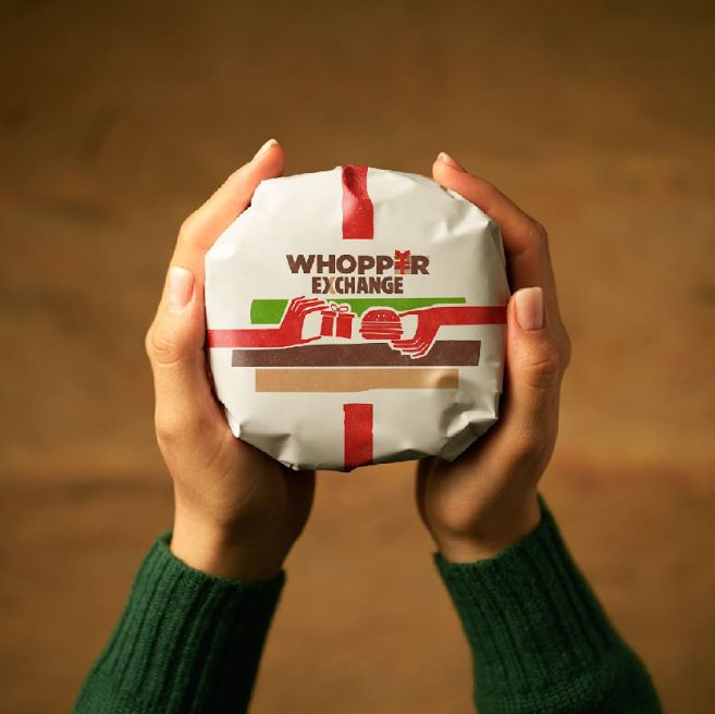 Receive yet another Christmas sweater Swap it out for a free Burger King Whopper in Miami on Dec 26