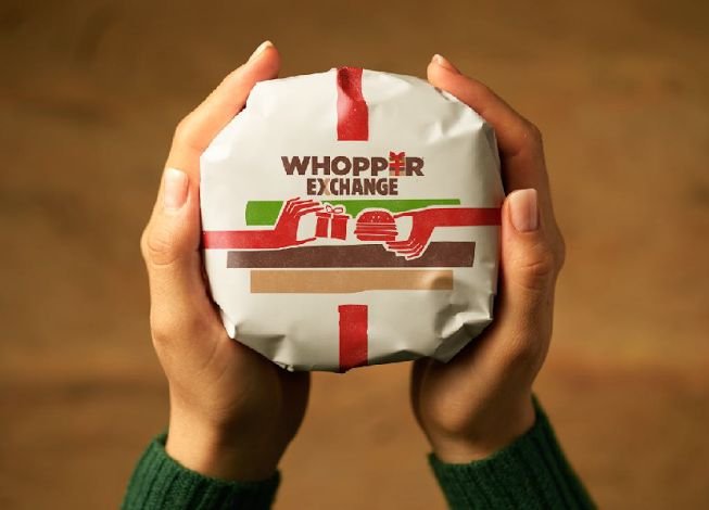 Burger King is swapping Whoppers for Christmas gifts in the Miami area on Dec. 26.