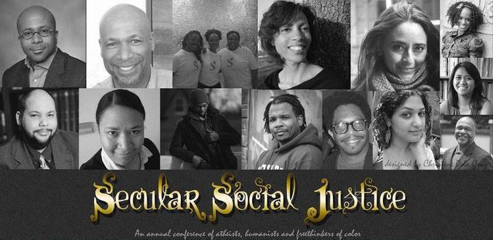Clockwise from top: Anthony Pinn, Frank Anderson, Secular Sistahs, S. Hutchinson, Soraya Chemaly, Monica Miller, Maggie Ardie