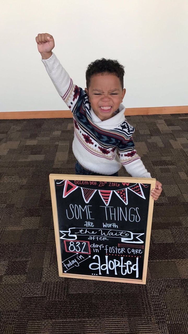 Boy has the best reaction to being adopted after 832 days in boy has the best reaction to being adopted after 832 days in foster care huffpost ccuart Choice Image