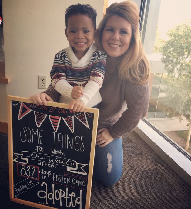Photo of a kid being adopted goes viral