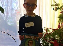 8-Year-Old Dresses Up As Ruth Bader Ginsburg For School Superhero Day