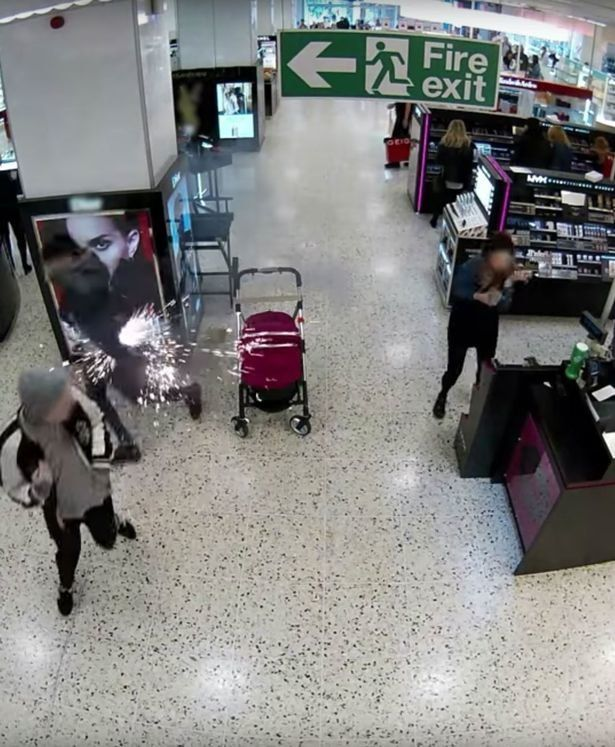 Man races from e-cigarette explosion in his own pocket at a shopping mall in Leeds England
