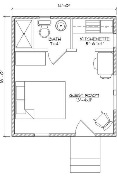 "<a rel=""nofollow"" href=""http://www.houzz.com/photos/373517/Custom-Guest-Cottage-Floor-Plan-traditional-floor-plan-other"" targ"
