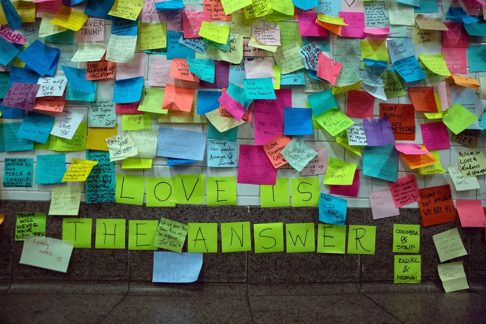 New York Historical Society To Preserve Thousands Of Post-It Notes Mourning Trump's