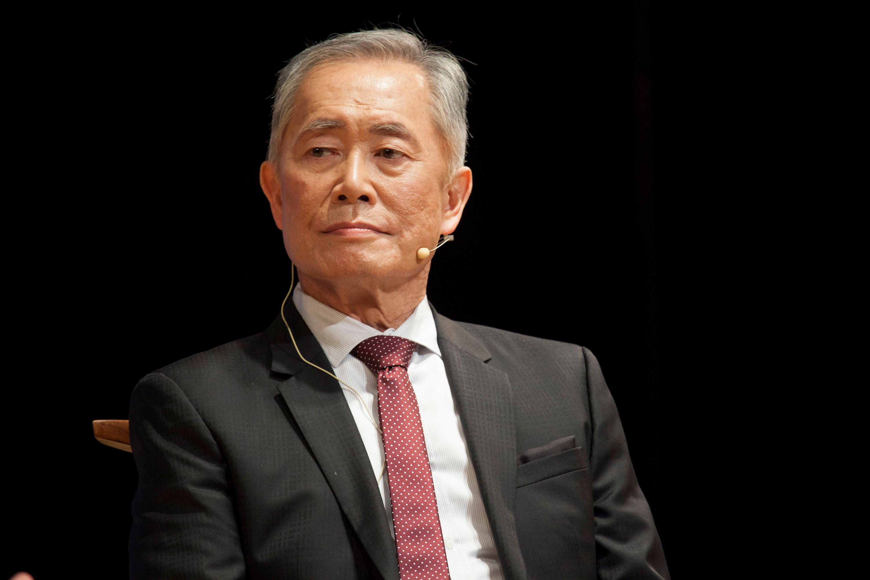 NEW YORK, NY - JANUARY 25:  George Takei speaks during 'George Takei: From Barbed Wire To Broadway In Conversation' at Japan Society on January 25, 2016 in New York City.  (Photo by Santiago Felipe/Getty Images)