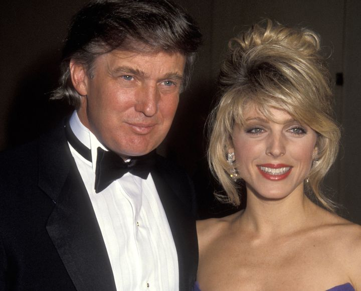 Donald Trump and second wife Marla Maples.