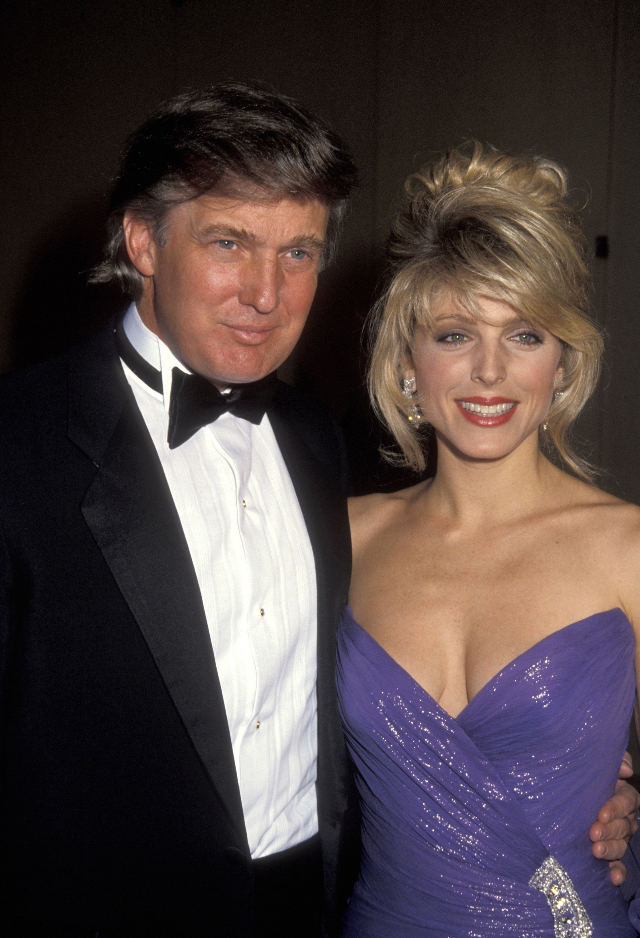 Donald Trump and Marla Maples during Soap Opera Digest Awards at Beverly Hilton Hotel in Beverly Hills, California, United States. (Photo by Ron Galella, Ltd./WireImage)