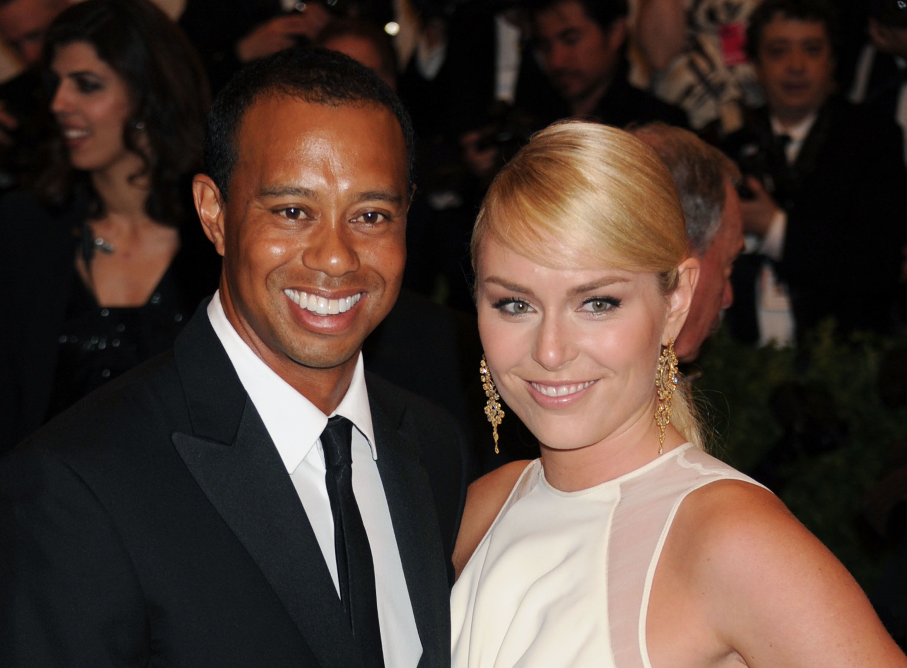 Tiger Woods and Lindsey Vonn at the Met Ball in May 2013.
