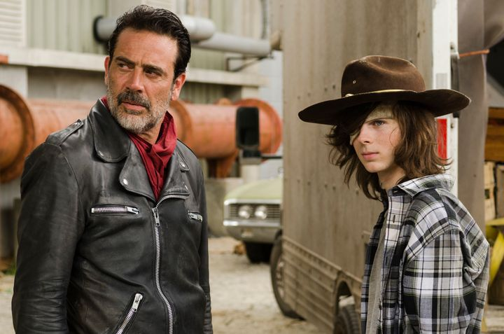 Negan has been trying mind games on Rick's son Carl.