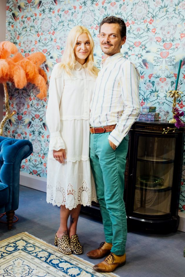 Fearne Cotton meets Matthew Williamson while filming 'Fearne On