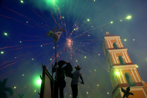 Cubans celebrate Las Parrandas de Remedios on December 24, 2015.