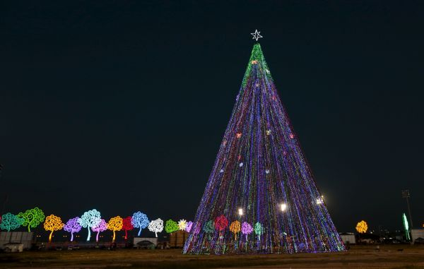 a colorful christmas tree stands in managua nicaragua december 14 2015 - Posada Christmas