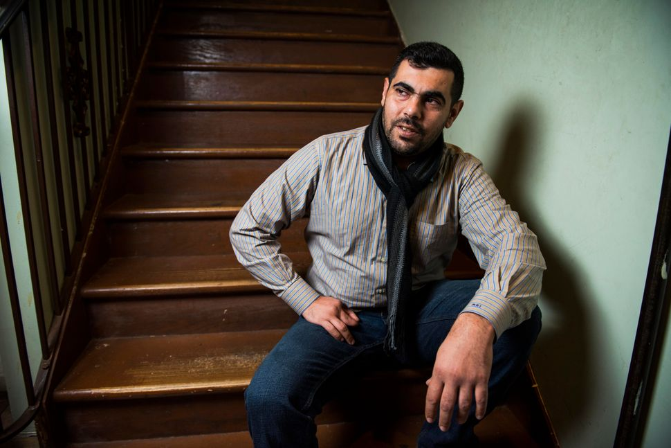 Mohammed Ali Zakkour, 36, is a tailor. Aside from a few odd jobs, he's still unemployed.