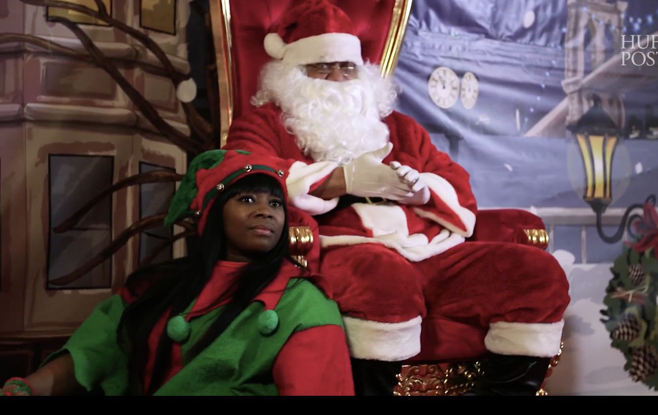 Anthony Newerls on duty as Santa at the Atlantic Terminal Mall in Brooklyn
