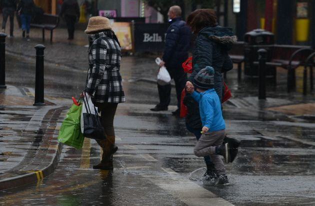 Last-minute purchases were marred by bad weather in the north west of