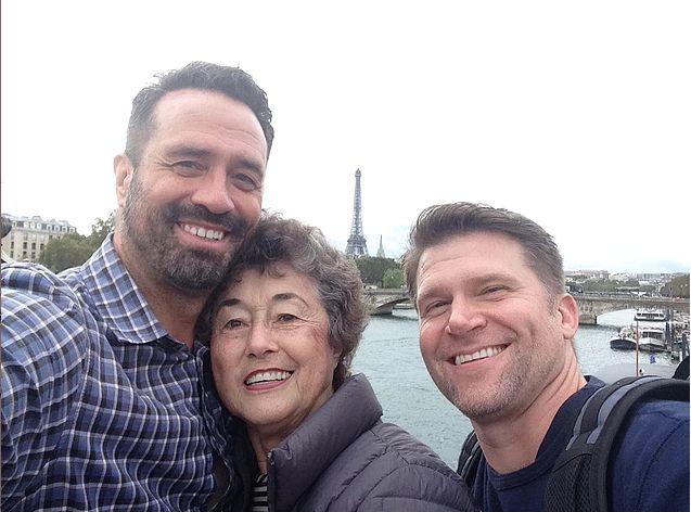 Barton Brooks, his mom Carla Brooks, and his partner Gregg Goodbrod began their journey in Paris.
