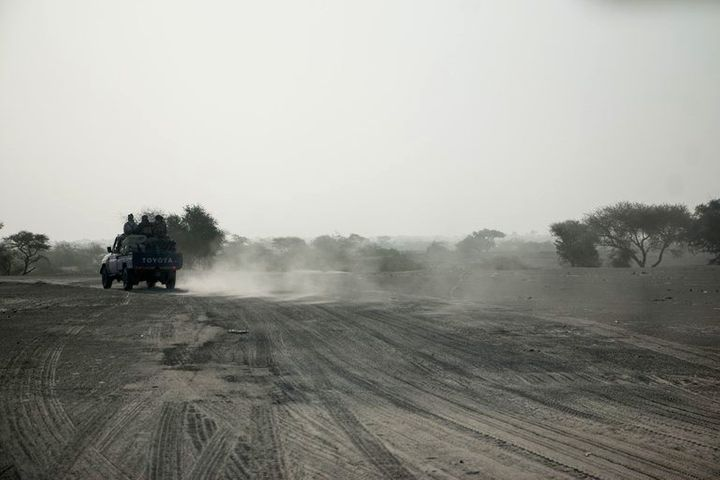 There are no paved roads in the area around Lake Chad.