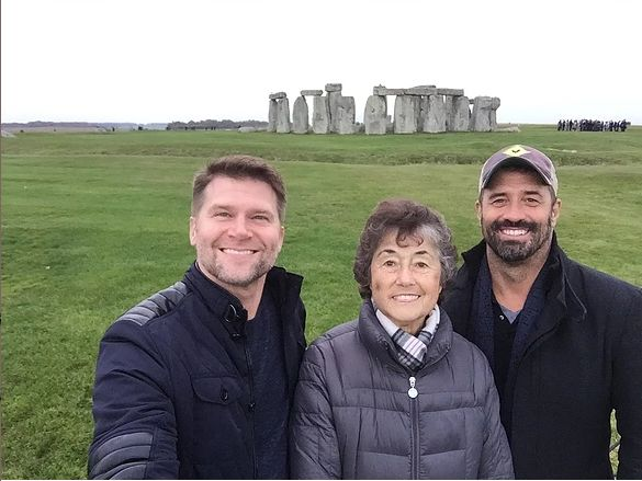 """Barton described the trip with his mom and his partner as """"an enormous gift."""""""