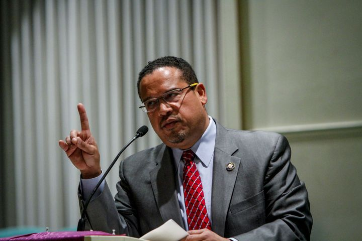 Rep. Keith Ellison (D-Minn.) campaigned for Democratic National Committee chairin Detroit Thursday and spoke about the