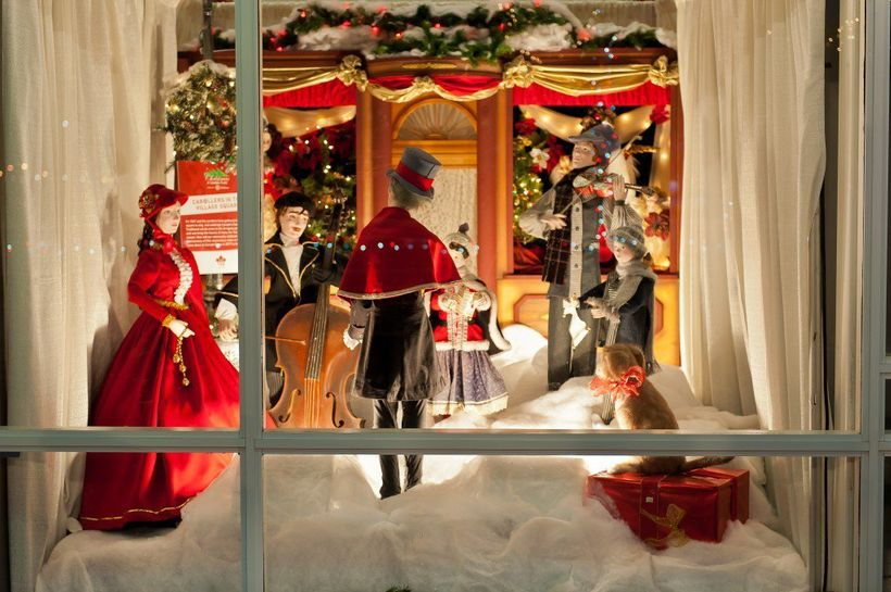 Every Christmas, Canada Place displays the much-loved windows that for decades  adorned the Woodward's department store in do