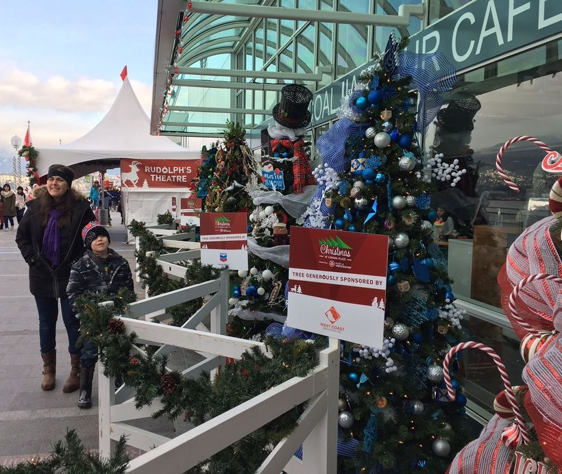 The Avenue of Trees at Christmas at Canada Place is a big hit with kids and adults.