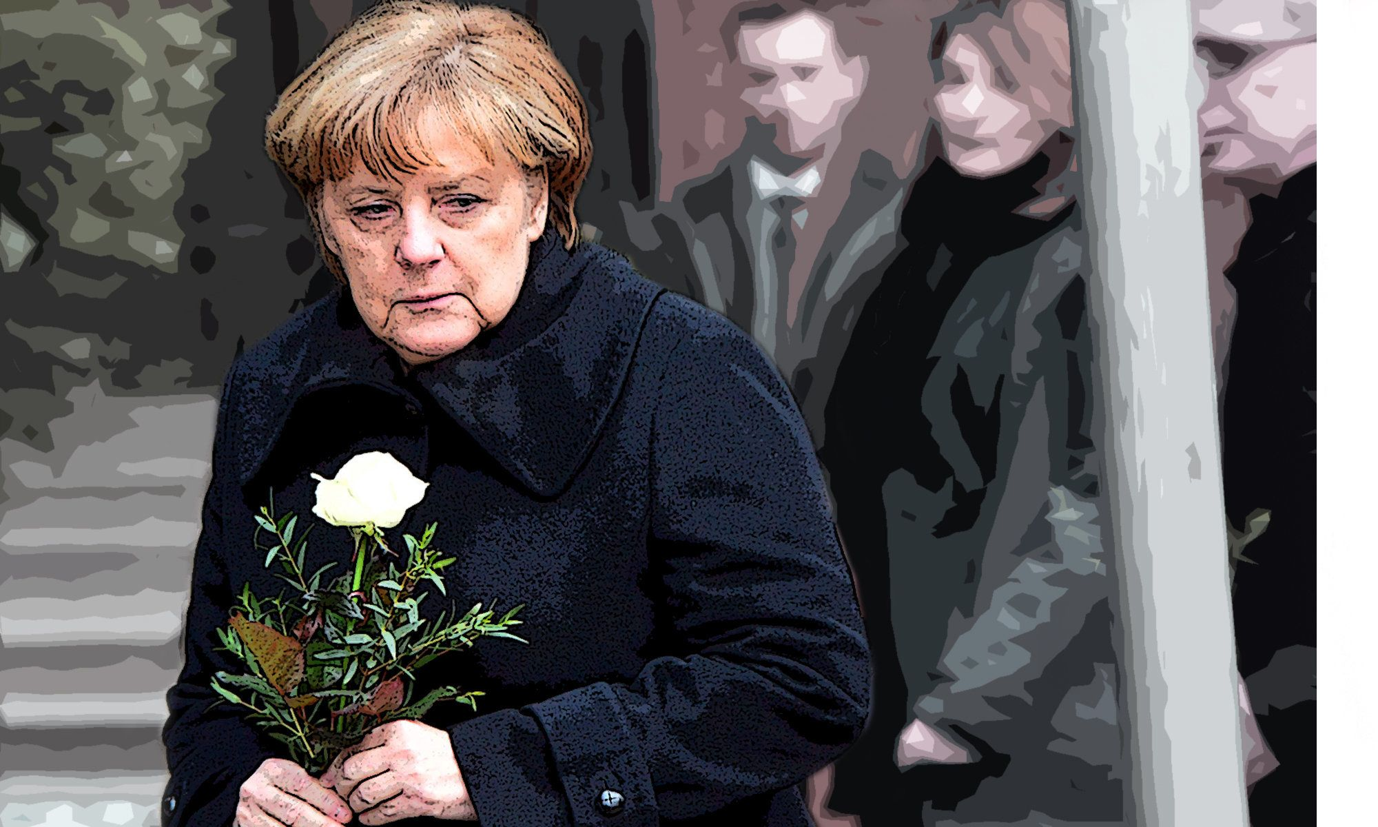 Angela Merkel visits the site of the Berlin Market attack