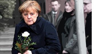 Angela Merkel visits the site of the Berlin Market attack